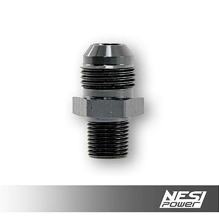 Niple 10AN x 3/8NPT Preto - NesiPower