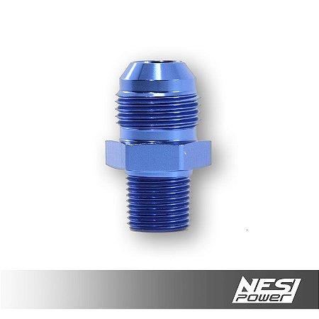 Niple 10AN x 3/8NPT Azul - NesiPower