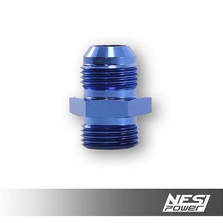 Niple 12AN x 12AN Oring Azul - NesiPower