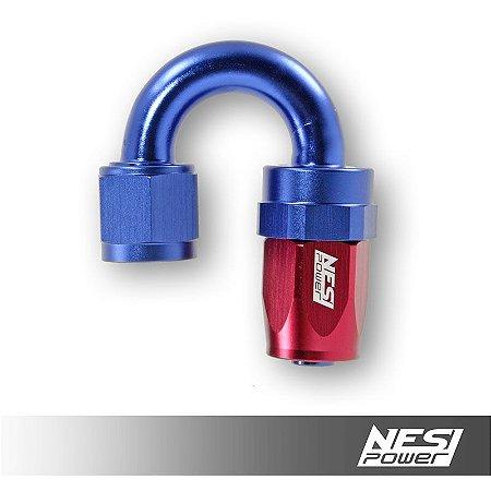 Conexão 8an 180º Nesipower - Azul e vermelho