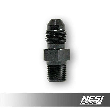 Niple 4AN x 1/8NPT Preto - NesiPower