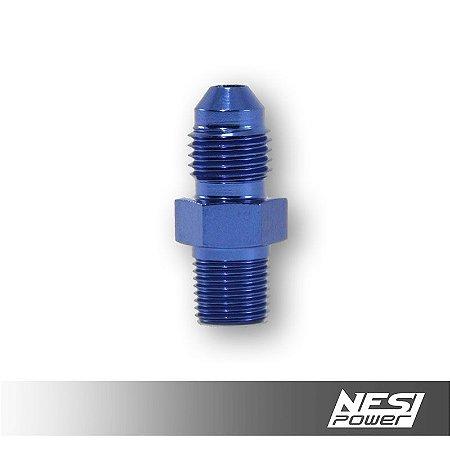 Niple 4AN x 1/8NPT Azul - NesiPower
