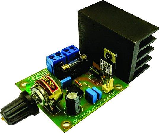 Controlador Pwm 25 Amperes Com Fusível De Proteção