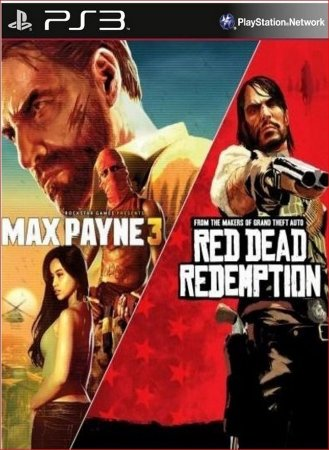 PACOTE MAX PAYNE COMPLETE EDITION 3 AND RED DEAD PS3 PSN MIDIA DIGITAL