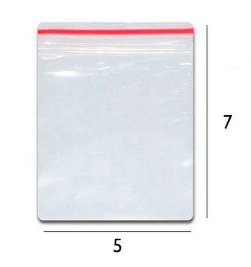 Saco plástico zipLock  5x7 - Com 100 unidades
