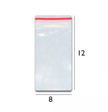 Saco plástico zipLock  8x12 - Com 100 unidades