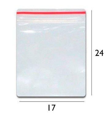 Saco plástico zipLock  17x24 - Com 100 unidades
