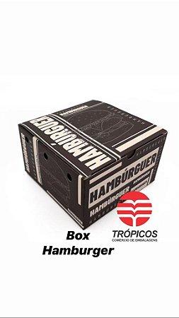 Caixa Hamburguer Box Black 120x80x120mm  - Com 50 unidades
