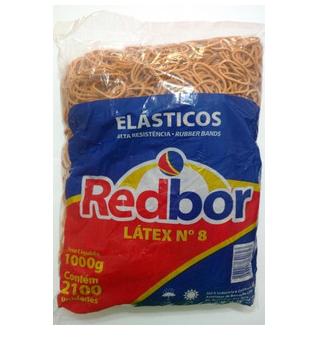 Elastico tipo Latex redbor pct 1kg nº8