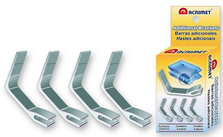 Suporte Acrimet 260 metalico para caixa para correspondencia facility conjunto com 4 unidades