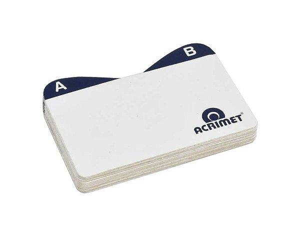 Indice Acrimet 630 de az para fichario de mesa cartao de visita