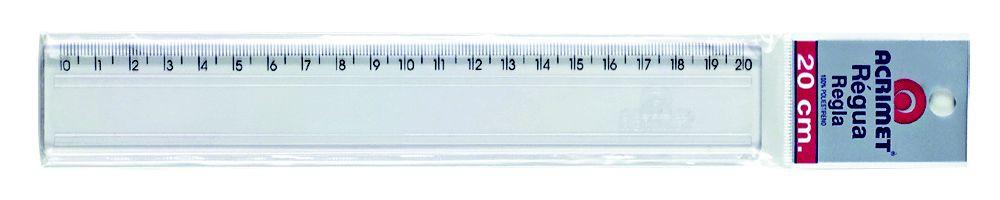 Regua Acrimet 512 plastica 20 cm cor cristal