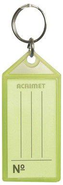 Chaveiro Acrimet 140 plastico com etiqueta de identificação cor amarelo neon
