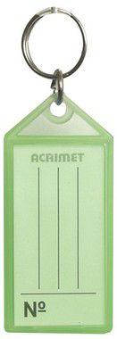 Chaveiro Acrimet 140 plastico com etiqueta de identificação verde neon