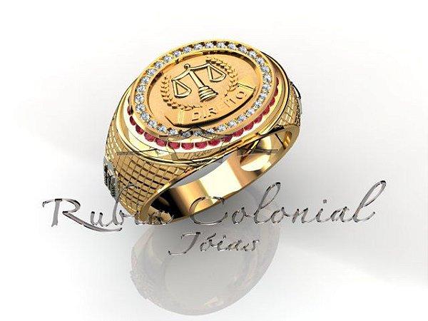 Anel Formatura Premium Diamond