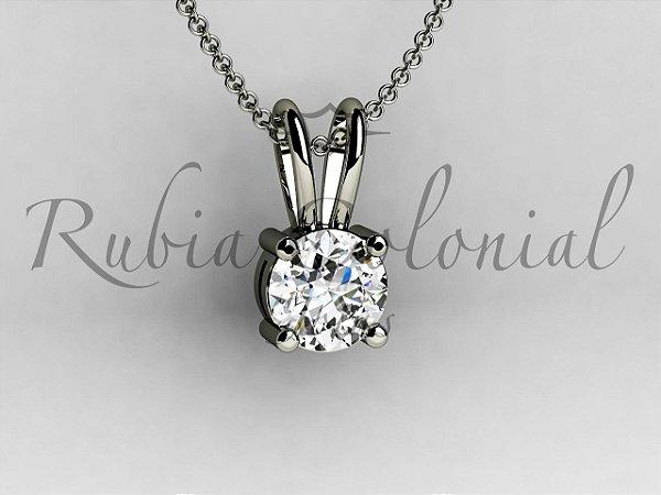 3374fc63e6463 Ponto de Luz - Escolha o Tamanho do Diamante - Rubia Colonial Joias