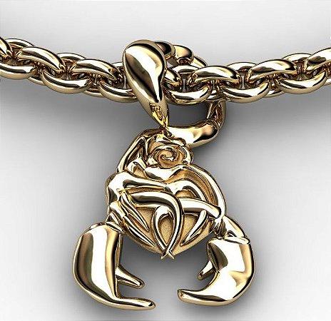 Pingente Escorpião em Ouro 18K