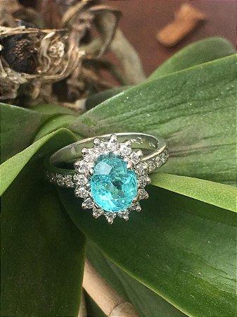 Anel de Turmalina Paraíba com Diamantes