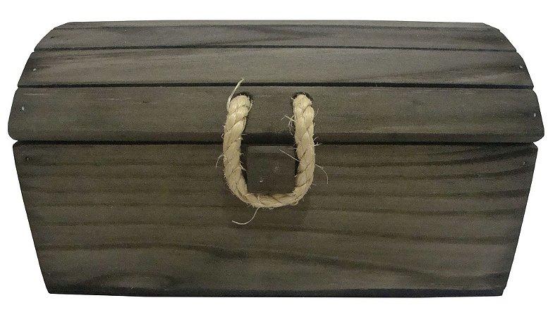 Baú de Madeira Retangular - Grátis a palha para acomodar os seus produtos!