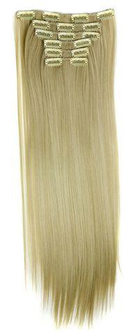 Aplique  Cabelo Sintetico  Mega Hair Tic Tac Liso