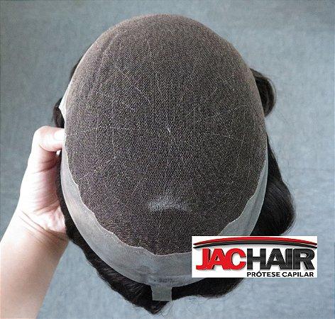 JAC 22 Protese Capilar Tela Com Silicone 16x20 cm SEM KIT MANUTENÇÃO