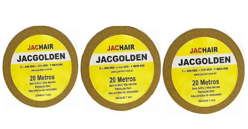 Kit 3 Fitas Amarela que Não Mela 20 metros + Removedor 100mL