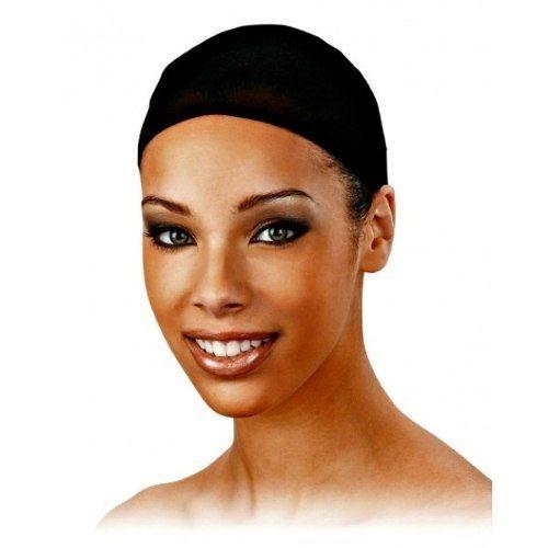 Touca Preta Wig Cap - Para Perucas Full Lace Front Lace 2pçs