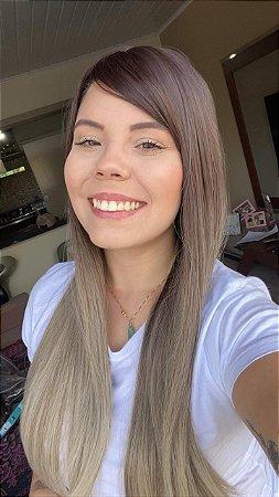 Peruca Half Wig Justine C/ Franja + Touca + Brinde Jachair