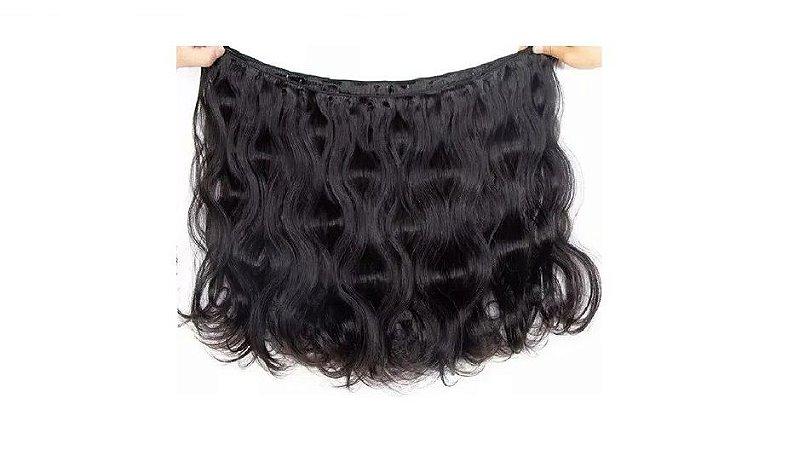 Mega Hair Costurado Cabelo Humano 60cm 100g Ondulado Jachair
