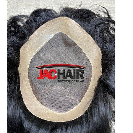 Jac 64 prótese capilar borda de micropele e tela varios tamanhos COM KIT para manutenção