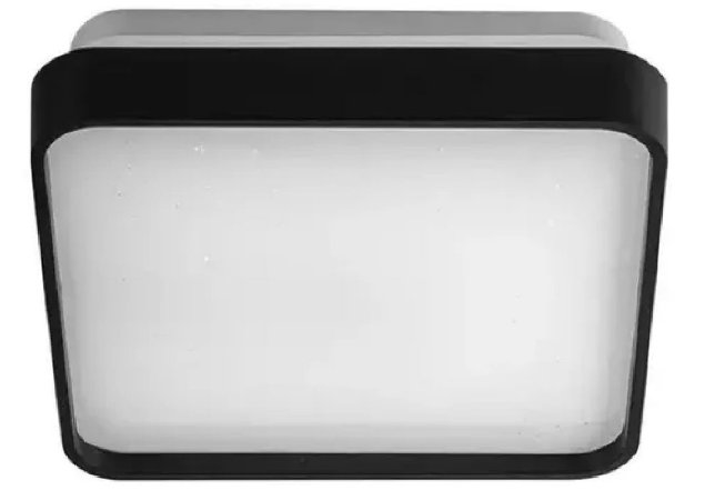 Luminária Led Plafon 24w Preto Sobrepor Especial Borda Black