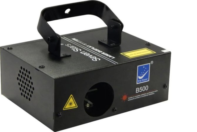 Laser Azul Led B500 500mw Raio Dmx Ritmico Bivolt Automatico