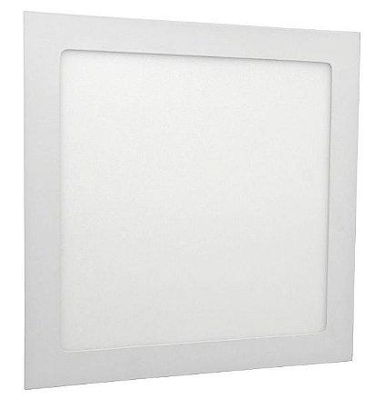 Luminária Plafon 18w LED Embutir Branco Frio ou Quente