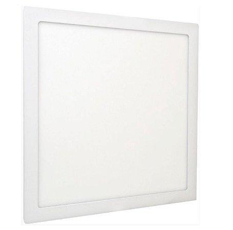 Luminária Plafon 40x40 36W LED Embutir Branco Frio ou Quente