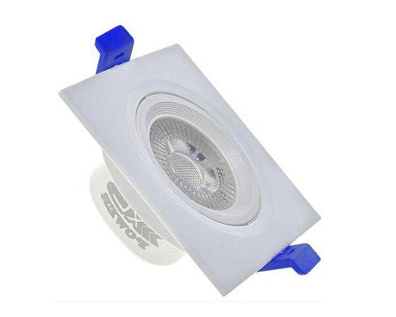 Spot LED 7W Quadrado Branco Frio ou Quente