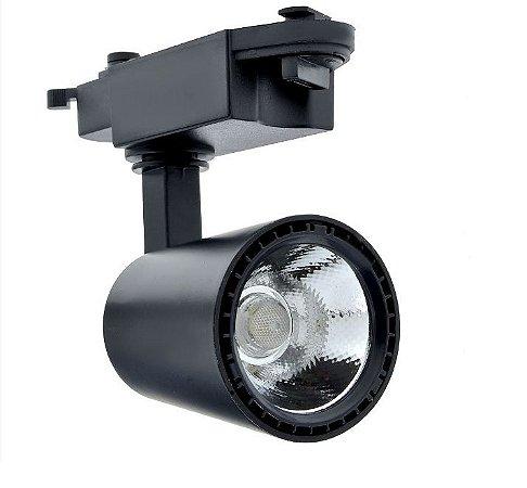 Spot LED 7W para Trilho Eletrificado Preto