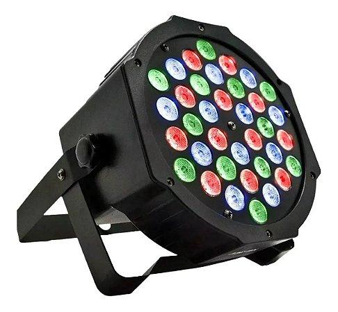 Canhão Refletor Par 64 Rgb 36 Leds Dmx Iluminação Dj 36w