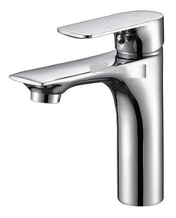 Torneira Monocomando Banheiro Bica Baixa Metal Inox Cromado