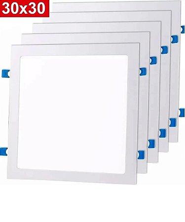 Kit 5 Painel Plafon Embutir Quadrado Luminaria Led 25w 24w