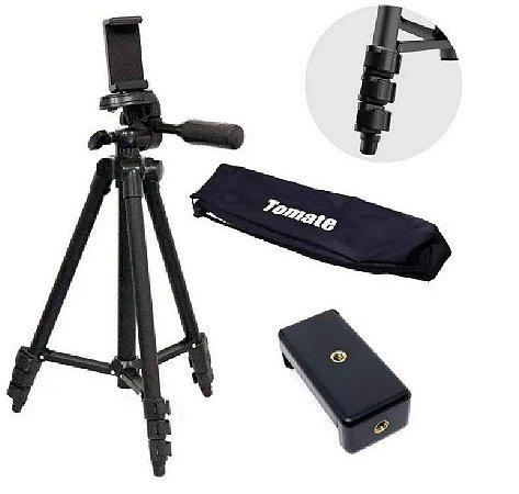 Tripé Profissional Camera Celular Universal Portátil 1,10m