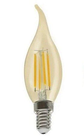 Lâmpada Vela Bico Filamento Retro 2w E14 C35 Lustre Vintage