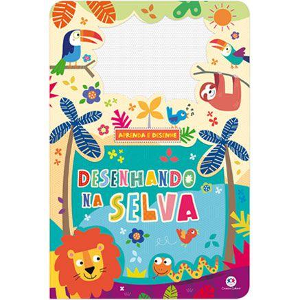 Livro com Lousa Mágica Colorida Desenhando na Selva