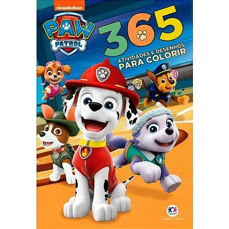 Livro para Colorir 365 Atividades e Desenhos Patrulha Canina