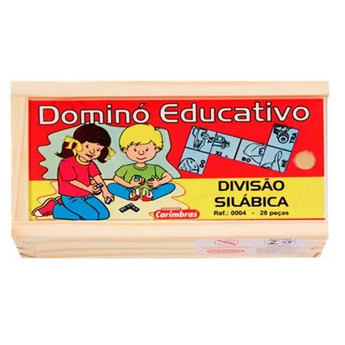 Aprenda as sílabas com dominó (Dominó de Divisão Silábica)