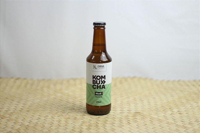 Kombucha – sabor Chá Verde – 275ml é uma bebida probiótica de origem milenar a base de chás e fermentada naturalmente. É refrescante, levemente gaseificada e de baixa caloria.