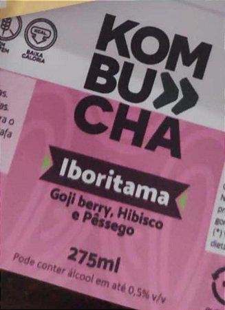 Kombucha Sabor Goji Berry, Hibisco e Pêssego - 275ml