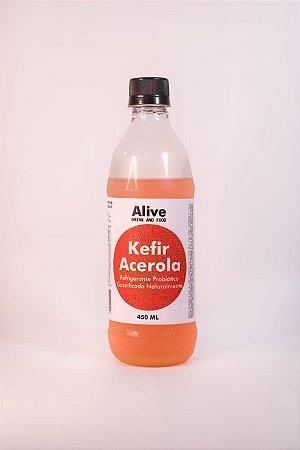 Kefir sabor acerola (probiótico) – 450ml – livre de corantes e glúten