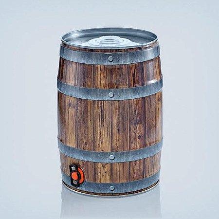 Barril 5l com torneira (Keg 5l) cor de Madeira Alemão