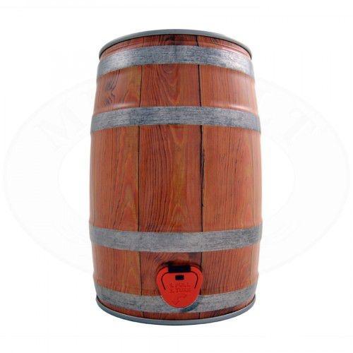 Barril 5l com torneira (Keg 5l) cor de Madeira Clara