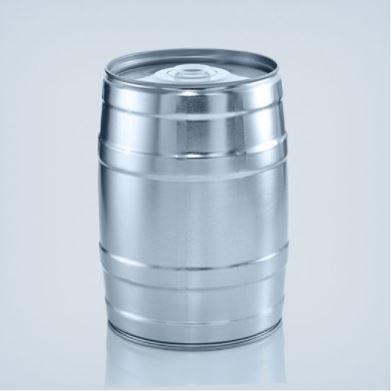 Barril 5l sem torneira (Keg 5l) cor prata